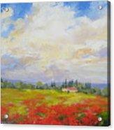 Cloud Poppies Acrylic Print