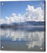 Cloud Reflection On Priest Lake Acrylic Print