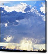 Cloud Storm On The Horizon Acrylic Print