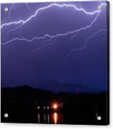 Cloud To Cloud Horizontal Lightning Acrylic Print