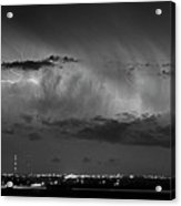 Cloud To Cloud Lightning Boulder County Colorado Bw Acrylic Print