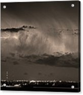 Cloud To Cloud Lightning Boulder County Colorado Bw Sepia Acrylic Print