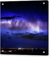Cloud To Cloud Lightning Boulder County Colorado Acrylic Print