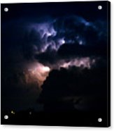 Cloud To Cloud Lightning Photography Acrylic Print