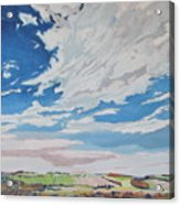 Clouded Sky On The Valley Acrylic Print