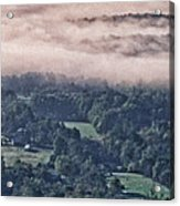 Clouds Above The Valley Panoramic Acrylic Print