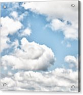 Clouds And Flowers Acrylic Print