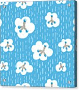 Clouds And Methane Molecules Pattern Acrylic Print