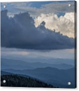 Clouds And Mountain Range Acrylic Print
