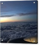 Clouds And Plane Acrylic Print
