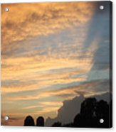 Clouds And Silos  Acrylic Print