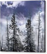 Clouds And Snow Swirling Acrylic Print