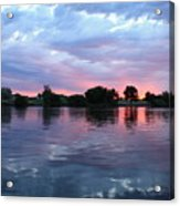 Clouds And Sunset Reflection In Prosser Acrylic Print