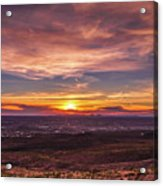 Clouds And Sunset Acrylic Print