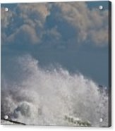 Clouds And Waves Acrylic Print