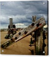 Clouds And Wooden Structure Acrylic Print