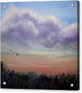 Clouds At Dusk Acrylic Print