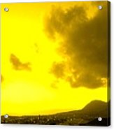Clouds At Sunset Over Basseterre Acrylic Print