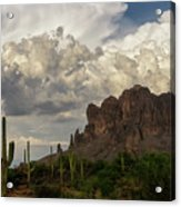 Clouds Bubbling Over The Superstitions  Acrylic Print