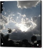 Clouds Buildup Acrylic Print