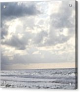 Clouds By The Sea Acrylic Print
