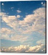Clouds Clouds Clouds Acrylic Print