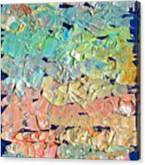 Clouds. Colorful Painter Palette. Exhausted Paint And Abstract Painting. Acrylic Print