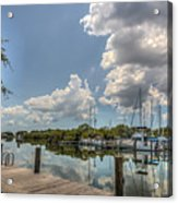 Clouds Down The Bay Acrylic Print