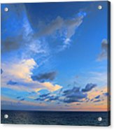 Clouds Drifting Over The Ocean Acrylic Print