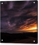 Clouds In A Night Desert  Acrylic Print