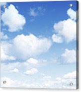 Clouds In Blue Sky Acrylic Print