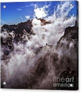 Clouds In The Caldera De Taburiente Acrylic Print