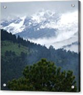 Clouds In The Rockies Acrylic Print