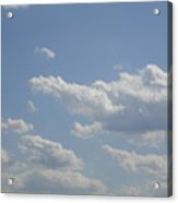 Clouds In The Sky One Acrylic Print