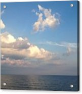 Clouds Meet Ocean Acrylic Print
