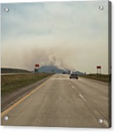 Clouds Of Smoke Billowing Off Spearfish Acrylic Print