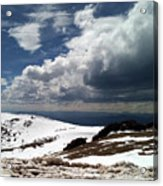Clouds On The Mountain Acrylic Print
