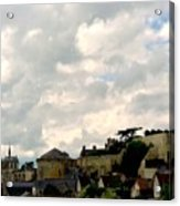 Clouds Over Amboise Acrylic Print