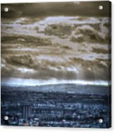 Clouds Over Bristol Hdr Split Toning Acrylic Print