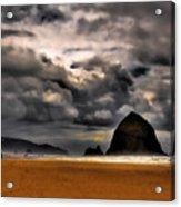 Clouds Over Cannon Beach Acrylic Print
