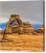 Clouds Over Delicate Arch Acrylic Print