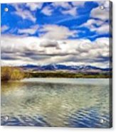 Clouds Over Distant Mountains Acrylic Print