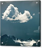 Clouds Over Glacier, Banff Np Acrylic Print
