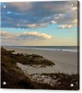 Clouds Over Holden Beach Acrylic Print