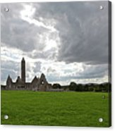 Clouds Over Kilmacduagh Abbey Acrylic Print