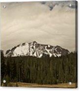 Clouds Over Lassen Peak Acrylic Print