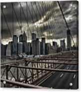 Clouds Over Manhattan Acrylic Print