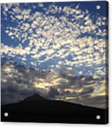 Clouds Over Mount Slievemore Acrylic Print
