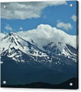 Clouds Over Mt Shasta Acrylic Print
