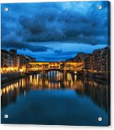 Clouds Over Ponte Vecchio Acrylic Print